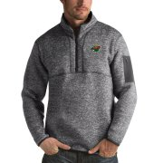 Wholesale Cheap Minnesota Wild Antigua Fortune Quarter-Zip Pullover Jacket Black