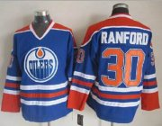 Wholesale Oilers #30 Bill Ranford Light Blue CCM Throwback Stitched NHL Jersey