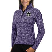 Wholesale Cheap Los Angeles Kings Antigua Women's Fortune 1/2-Zip Pullover Sweater Purple