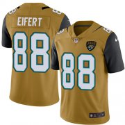 Wholesale Cheap Nike Jaguars #88 Tyler Eifert Gold Youth Stitched NFL Limited Rush Jersey