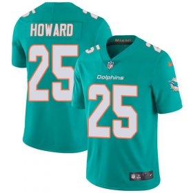 Wholesale Cheap Nike Dolphins #25 Xavien Howard Aqua Green Team Color Youth Stitched NFL Vapor Untouchable Limited Jersey