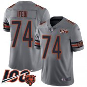 Wholesale Cheap Nike Bears #74 Germain Ifedi Silver Youth Stitched NFL Limited Inverted Legend 100th Season Jersey
