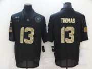 Wholesale Cheap Men's New Orleans Saints #13 Michael Thomas Black Camo 2020 Salute To Service Stitched NFL Nike Limited Jersey