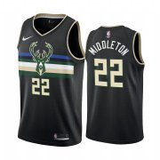 Wholesale Cheap Nike Bucks #22 Khris Middleton Black 2019-20 Statement Edition NBA Jersey