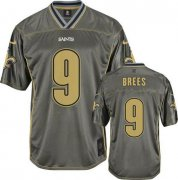 Wholesale Cheap Nike Saints #9 Drew Brees Grey Youth Stitched NFL Elite Vapor Jersey