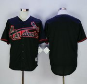 Wholesale Cheap Cardinals Blank Black New Cool Base Fashion Stitched MLB Jersey