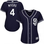 Wholesale Cheap Padres #4 Wil Myers Navy Blue Alternate Women's Stitched MLB Jersey