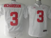 Wholesale Cheap Alabama Crimson Tide #3 Richardson White Jersey