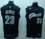 Wholesale Cheap Cleveland Cavaliers #23 LeBron James Black Swingman Throwback Jersey