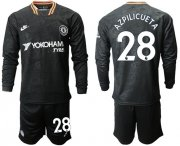 Wholesale Cheap Chelsea #28 Azpilicueta Third Long Sleeves Soccer Club Jersey