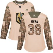 Wholesale Cheap Adidas Golden Knights #38 Tomas Hyka Camo Authentic 2017 Veterans Day Women's Stitched NHL Jersey