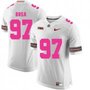 Wholesale Cheap Ohio State Buckeyes 97 Joey Bosa White 2018 Breast Cancer Awareness College Football Jersey