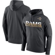 Wholesale Cheap Men's Los Angeles Rams Nike Sideline Circuit Anthracite Pullover Hoodie