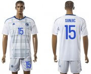 Wholesale Cheap Bosnia Herzegovina #15 Sunjic Away Soccer Country Jersey