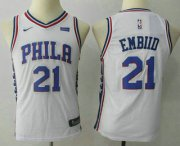 Cheap Youth Philadelphia 76ers #21 Joel Embiid White 2017-2018 Nike Swingman Stubhub Stitched NBA Jersey