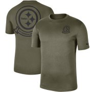 Wholesale Cheap Men's Pittsburgh Steelers Nike Olive 2019 Salute to Service Sideline Seal Legend Performance T-Shirt