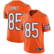 Wholesale Cheap Nike Bears #85 Cole Kmet Orange Men's Stitched NFL Limited Rush Jersey