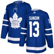 Wholesale Cheap Adidas Maple Leafs #13 Mats Sundin Blue Home Authentic Stitched NHL Jersey