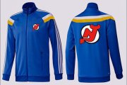 Wholesale Cheap NHL New Jersey Devils Zip Jackets Blue-2