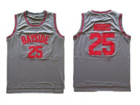 Wholesale Cheap Bayside Tigers 25 Zack Morris Gray Stitched Movie Jersey
