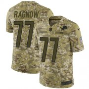 Wholesale Cheap Nike Lions #77 Frank Ragnow Camo Youth Stitched NFL Limited 2018 Salute to Service Jersey