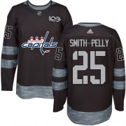 Wholesale Cheap Adidas Capitals #25 Devante Smith-Pelly Black 1917-2017 100th Anniversary Stitched NHL Jersey