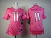 Wholesale Cheap Nike Cardinals #11 Larry Fitzgerald Pink Women's Be Luv'd Stitched NFL Elite Jersey