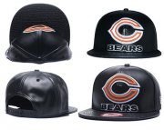 Wholesale Cheap NFL Chicago Bears Team Logo Black Adjustable Hat A66
