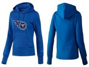 Wholesale Cheap Women's Tennessee Titans Logo Pullover Hoodie Blue