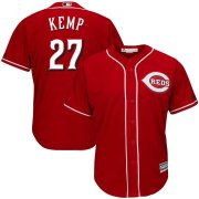 Wholesale Cheap Men's Reds #27 Matt Kemp Majestic Scarlet Alternate Official Cool Base Player Jersey