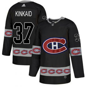 Wholesale Cheap Adidas Canadiens #37 Keith Kinkaid Black Authentic Team Logo Fashion Stitched NHL Jersey