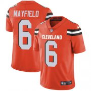 Wholesale Cheap Nike Browns #6 Baker Mayfield Orange Alternate Men's Stitched NFL Vapor Untouchable Limited Jersey