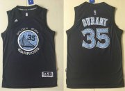 Wholesale Cheap Warriors #35 Kevin Durant Black Diamond Fashion Stitched NBA Jersey