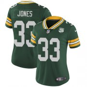 Wholesale Cheap Nike Packers #33 Aaron Jones Green Team Color Women's 100th Season Stitched NFL Vapor Untouchable Limited Jersey