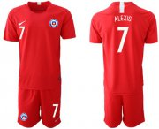 Wholesale Cheap Chile #7 Alexis Home Soccer Country Jersey