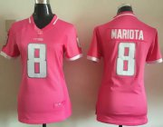 Wholesale Cheap Nike Titans #8 Marcus Mariota Pink Women's Stitched NFL Elite Bubble Gum Jersey