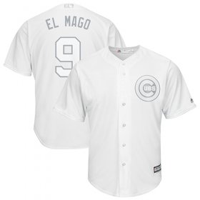 "Wholesale Cheap Cubs #9 Javier Baez White ""El Mago\"" Players Weekend Cool Base Stitched MLB Jersey"