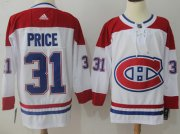 Wholesale Cheap Adidas Canadiens #31 Carey Price White Road Authentic Stitched NHL Jersey