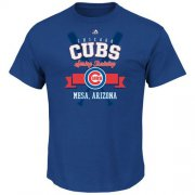 Wholesale Cheap Chicago Cubs Majestic 2016 Heart and Soul Spring Training T-Shirt Royal
