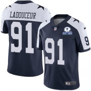 Wholesale Cheap Nike Cowboys #91 L.P. Ladouceur Navy Blue Thanksgiving Men's Stitched With Established In 1960 Patch NFL Vapor Untouchable Limited Throwback Jersey