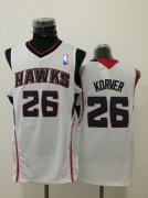 Wholesale Cheap Men's Atlanta Hawks #26 Kyle Korver White Swingman Jersey