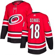 Wholesale Cheap Adidas Hurricanes #18 Ryan Dzingel Red Home Authentic Stitched Youth NHL Jersey