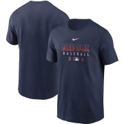 Wholesale Cheap Men's Boston Red Sox Nike Navy Authentic Collection Team Performance T-Shirt