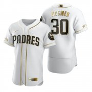 Wholesale Cheap San Diego Padres #30 Eric Hosmer White Nike Men's Authentic Golden Edition MLB Jersey