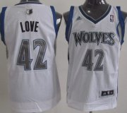 Wholesale Cheap Minnesota Timberwolves #42 Kevin Love White Swingman Jersey