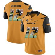 Wholesale Cheap Missouri Tigers 12 Johnathon Johnson Gold Nike Fashion College Football Jersey