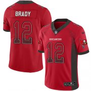 Wholesale Cheap Nike Buccaneers #12 Tom Brady Red Team Color Men's Stitched NFL Limited Rush Drift Fashion Jersey