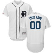 Wholesale Cheap Detroit Tigers Majestic 2018 Home Flex Base Authentic Collection Custom Jersey White