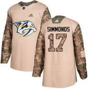 Wholesale Cheap Adidas Predators #17 Wayne Simmonds Camo Authentic 2017 Veterans Day Stitched NHL Jersey