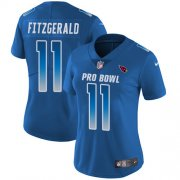 Wholesale Cheap Nike Cardinals #11 Larry Fitzgerald Royal Women's Stitched NFL Limited NFC 2018 Pro Bowl Jersey